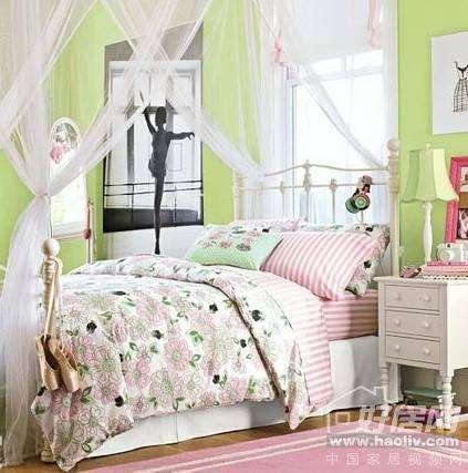 公主范欧洲古典风格 女孩卧室家具设计