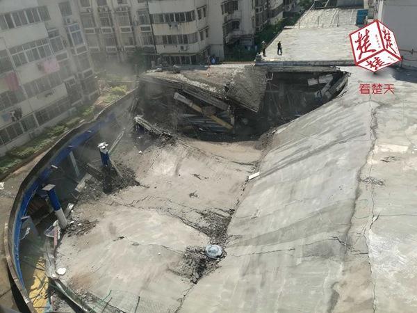 黄石一商业楼施工时发生坍塌事故 幸无人员伤亡