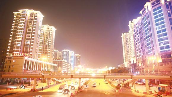 """荆门中心城区""""两路一河""""景观照明建设完工"""