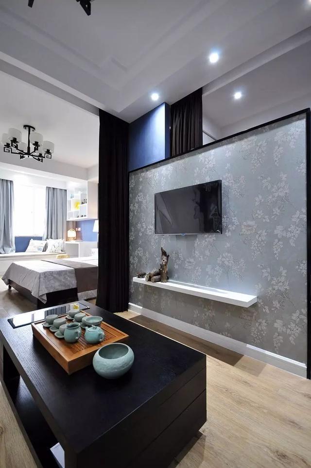 50㎡单身公寓 新中式的小户型 禅意韵味好高档!