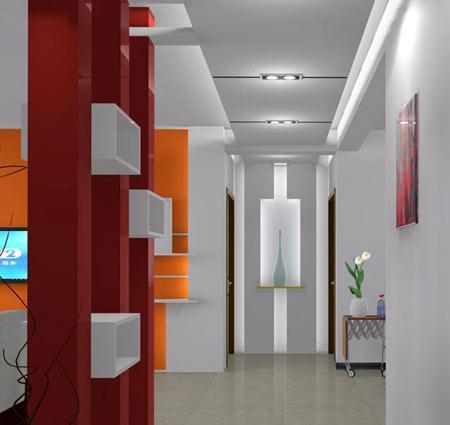 房间装修风水:走廊吊顶装修效果图,造型很简约