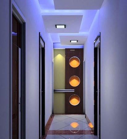 玄关隔断家居装修图:10款走廊吊顶设计尽显玄关隔断的