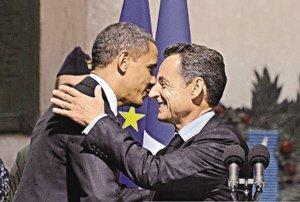 奥巴马祝贺萨科齐得女儿 称最好像妈别像爸