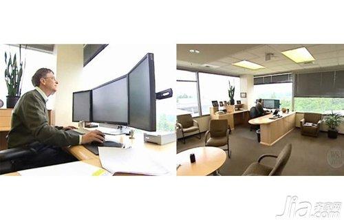 微软前ceo比尔 盖茨的办公桌 看看国外科技大佬的办公桌高清图片