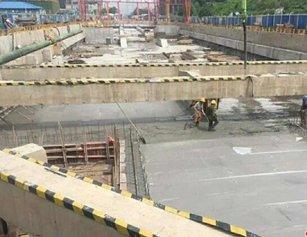 武汉一地铁站主体结构封顶 深度约10层楼