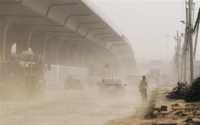 每天降尘200吨 扬尘已成影响武汉空气质量祸首