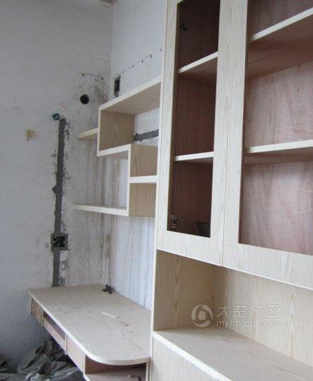 造型书桌书柜效果图