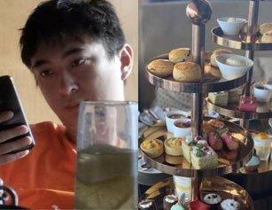 王思聪现身高档酒店喝下午茶 身边未见有女伴