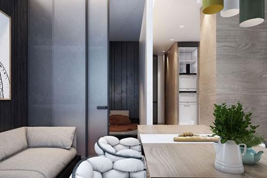 摩登质感单身公寓 一寸空间都没浪费