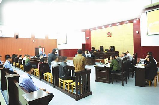 宜昌市首例网络贩毒案公开庭审 9人将择期宣判