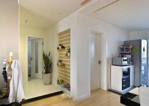 103平现代简约装修风格案例赏析 打通阳台做健身房