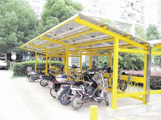 武汉首个光伏电动车棚亮相 对居民免费开放