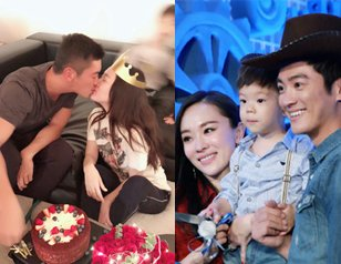 杜江为霍思燕庆生甜蜜亲吻 嗯哼被打马赛克抢镜