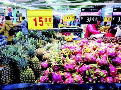 多种异地水果实现汉产 火龙果与香柚最受捧