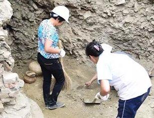 湖北发现一处东汉墓葬群 现场发现人骨