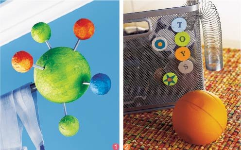 """通过添加""""原子""""模型表现窗户的科幻主题.图片"""