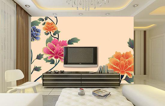 风水装修客厅禁忌墙的手机电视背景墙纸苹果蜡笔小新图片