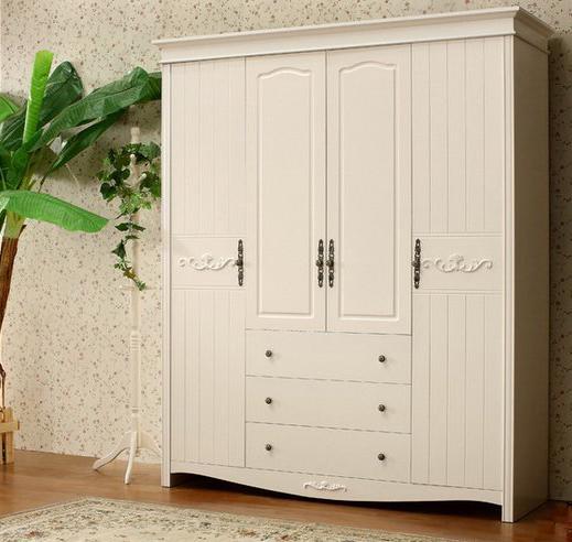 欧式实木窗台衣柜