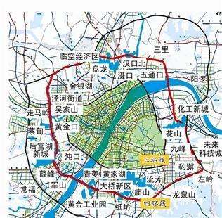 武汉四环线明日动工拟2015年建成 穿过九大城区