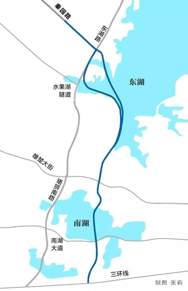 两湖隧道示意图