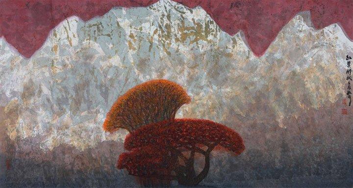 红叶醉秋 创作于2012年
