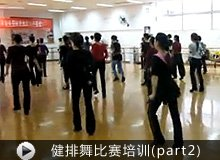 健排舞比赛培训现场