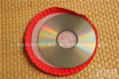 创意无限大 旧光盘变身潮流杯垫图片