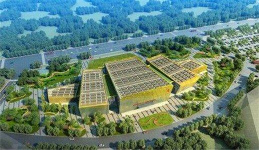 荆门生态科技城展示中心轮廓初现 预计9月交付使用