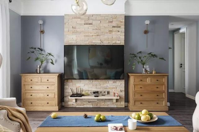 140㎡现代美式 电视墙造型独特
