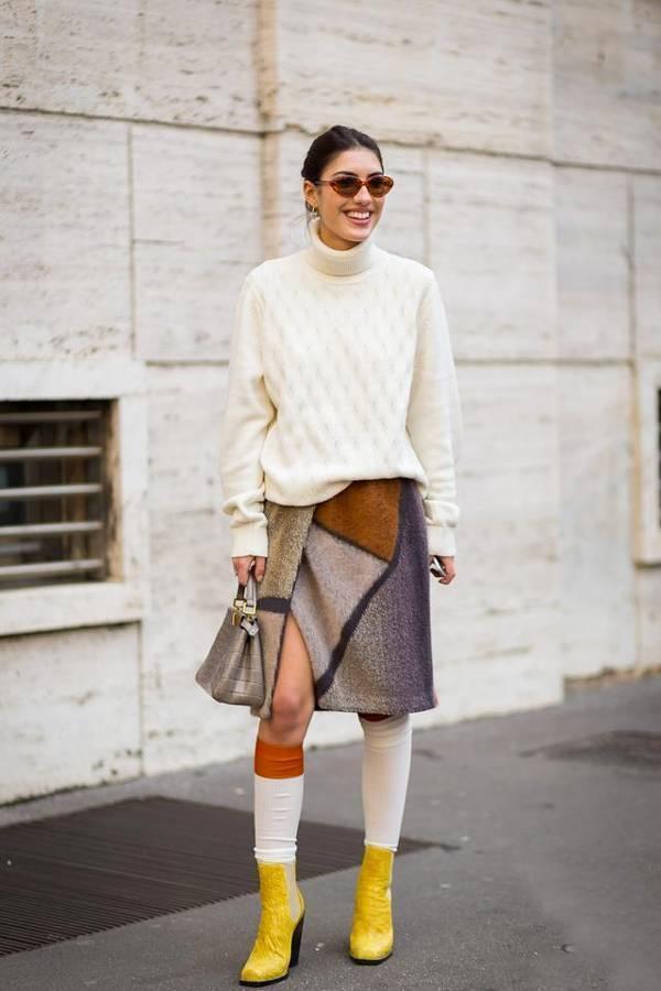 有了奶奶的绞花毛衣 小个子也能穿出170大长腿
