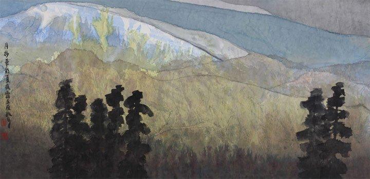月移华影夏夜霜 创作于2012年