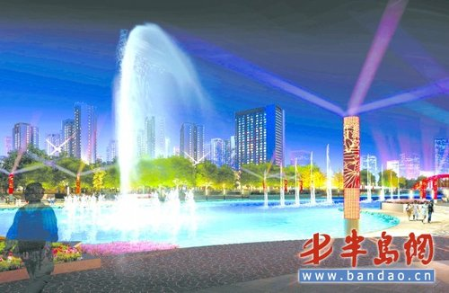 胶南市东部新城区将添一座占地261亩的城市公园隐珠公园,一期工程现已