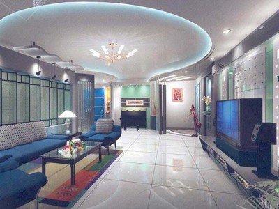 客厅吊顶效果图之时尚创意吊顶设计-客厅吊顶装修效果图片 绝对有收获