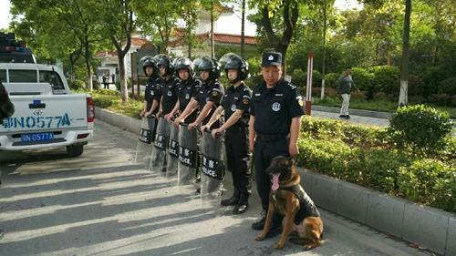 特警支队加强街面徒步武装巡逻 确保稳定安全