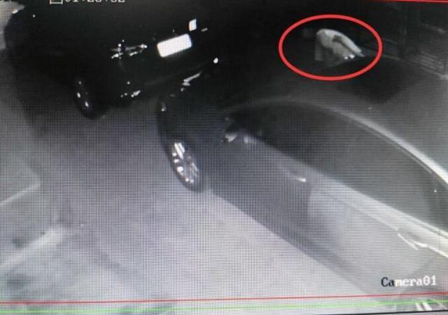 襄阳一男女半夜竟在别家车旁干这种事 被监控拍下