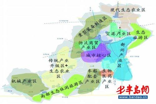 胶州市产业发展规划划分出的 12个产业区.-胶州分12个区规划新产业