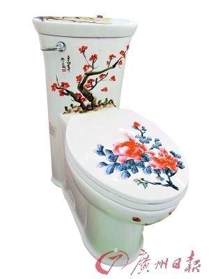 手绘美女马桶 打造独特性感卫浴空间
