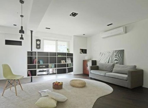 80平米两室两厅装修 简约的小户型阳光房设计 高清图片