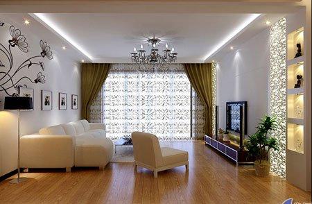 客厅吊顶效果图之简约欧式装修吊顶-客厅吊顶装修效果图片 绝对有收获