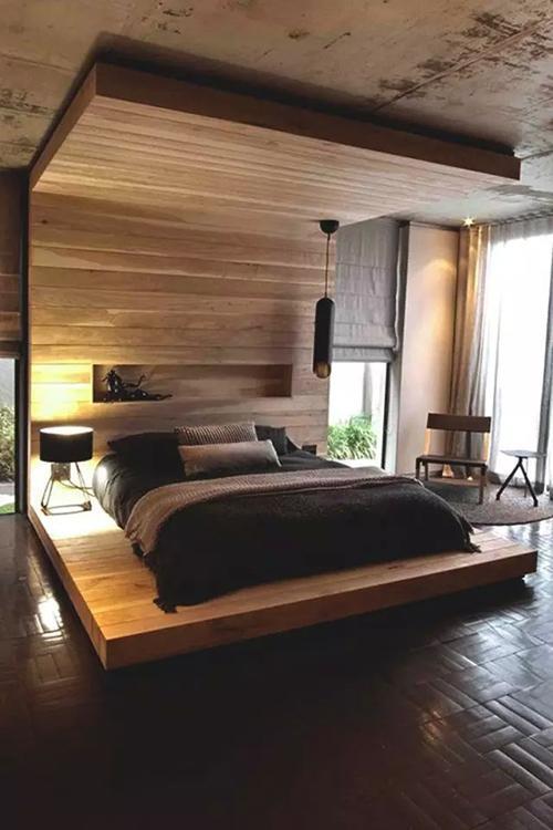 端庄又实惠 随便滚的地台床卧室设计