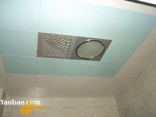 带阁楼的房子装修图:卫生间的集成吊顶