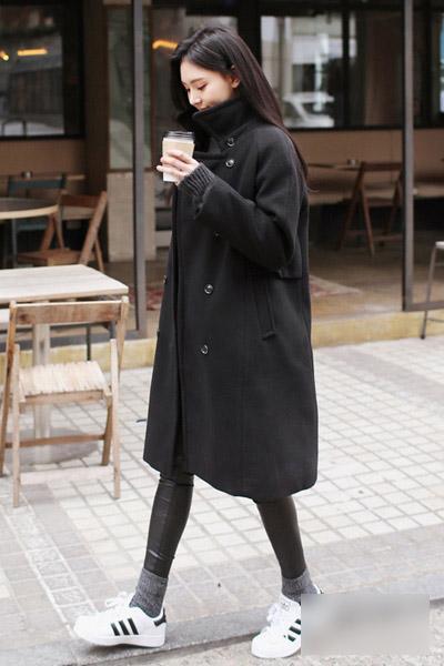 冬季造型有腔调 大衣混搭运动鞋确保零失误图片