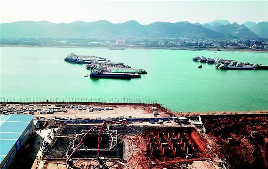 宜昌伍家岗长江大桥首个主塔承台完工(图)