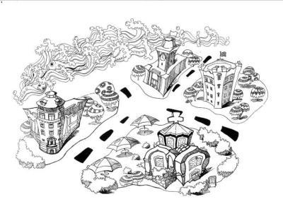 手绘地图已完成,同时,学生们还专门为老房子设计了