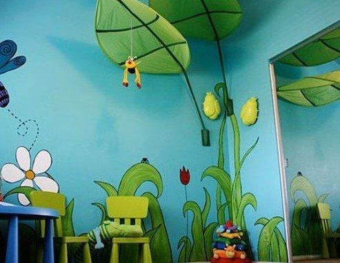 创意手绘墙设计图 彰显家居品味的新思路