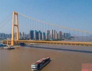 金秋黄国际橘 来看看武汉的九色彩桥