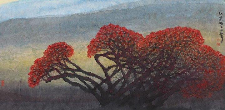 红叶颂 创作于2012年