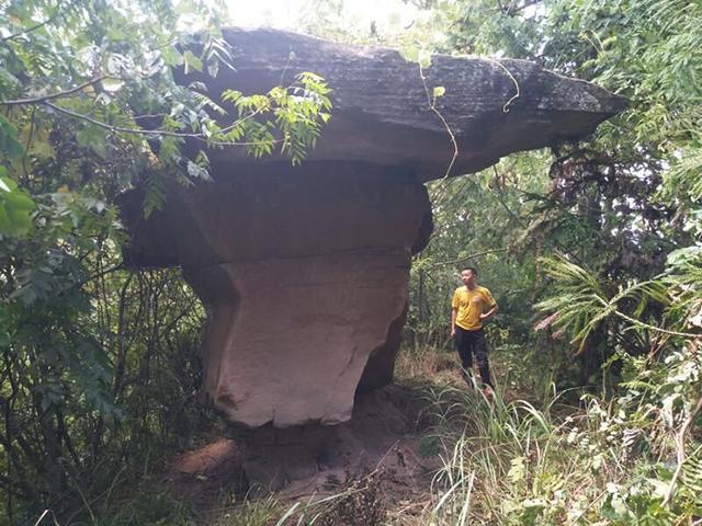 """恩施发现""""会走路的石头"""" 40年挪了6米形似香炉"""