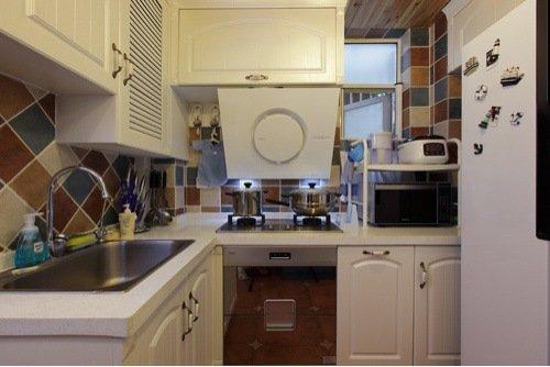 00平米-厨房装修效果图-白领3.