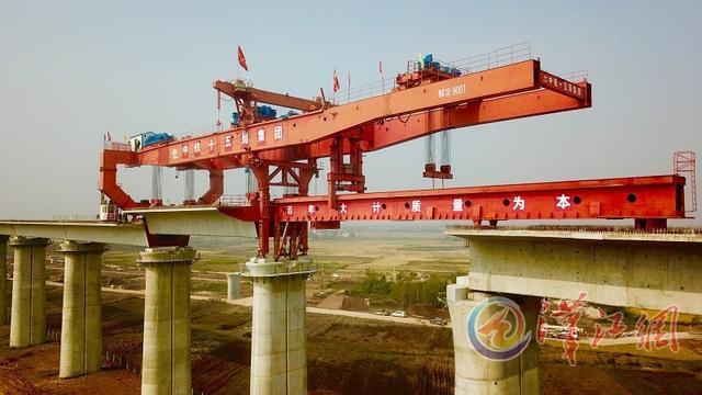 汉十高铁东津特大桥项目建设正酣 全长399公里
